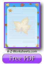 Autumn Leaf Printable Lined Paper