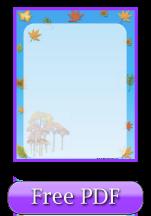 Free Printable Paper: Autumn Theme