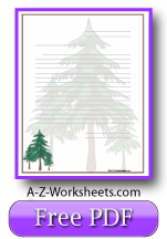 Fir Trees Printable Lined Paper