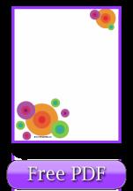 Free Printable Scrapbook Paper: Bright Circles