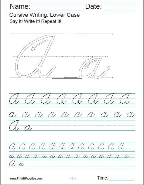 50+ Cursive Writing Worksheets ⭐ Alphabet, Sentences, Advanced