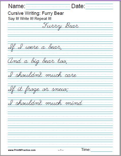 50 cursive writing worksheets alphabet sentences advanced. Black Bedroom Furniture Sets. Home Design Ideas