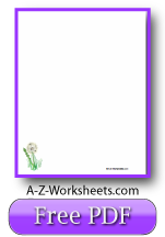Free Printable Writing Paper: Fresh Dandelions