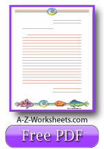 Tropical Fish Printable Lined Paper