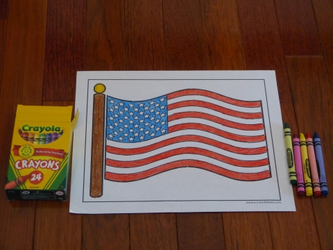 Patriotic Flag Coloring Pages