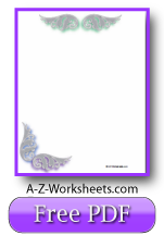 Printable Writing Paper: Blank writing paper, Angel Wing Theme