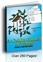 A Child's Garden of Verses: Manuscript, Cursive, and story blocks.