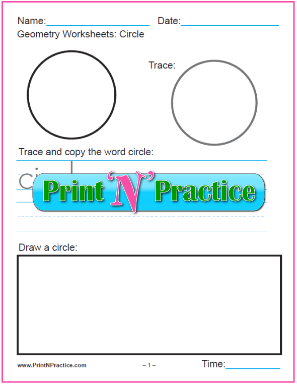 First Grade Math Worksheets: Six Printable Geometry Shapes Worksheets