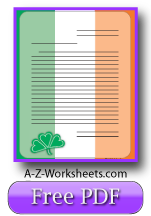 Printable Lined Paper Irish Flag