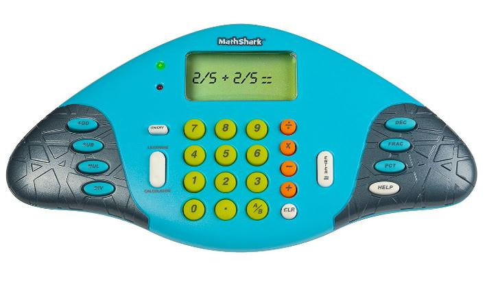 Kids love learning Math games with a Math Shark. It looks like a toy!