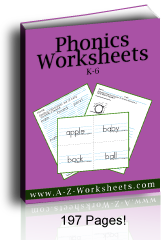 Printable Worksheets for Phonics in one download.