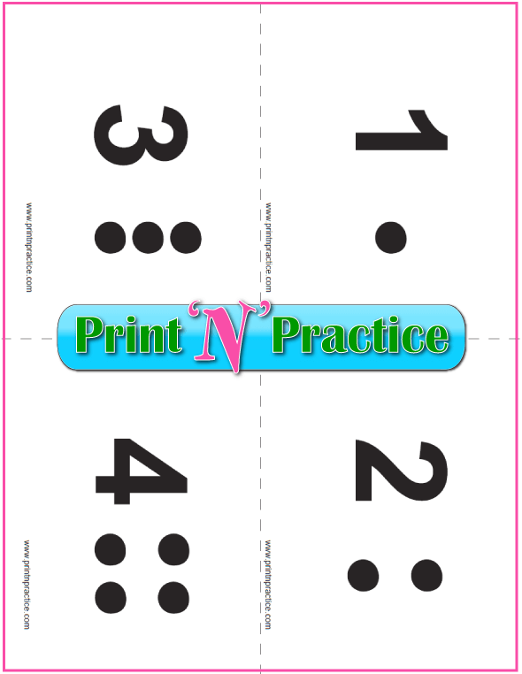 Preschool Printable Counting Flash Cards 1-12