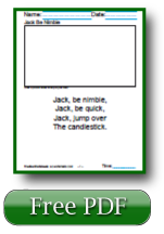 Jack be Nimble First Grade Reading Comprehension Worksheets