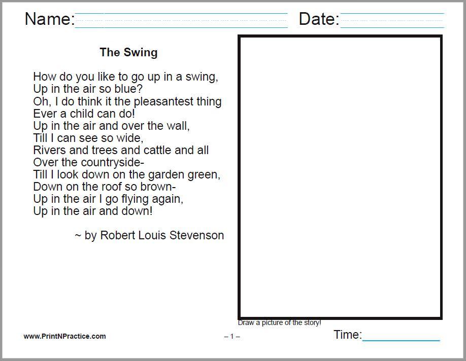 Preschool Nursery Rhymes: Scores of read and color worksheets.