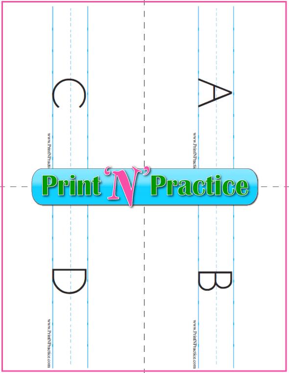 Uppercase Printable Alphabet Flashcards
