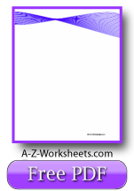 Unlined Blue Ribbon Writing Paper
