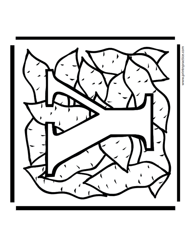 Y For Yams Alphabet Coloring Printables